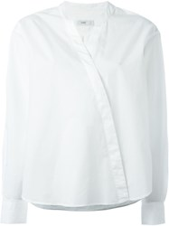 Closed Crossover Front Blouse White
