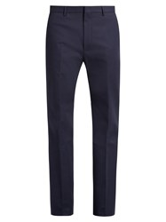 Calvin Klein Spike Slim Fit Stretch Cotton Blend Trousers Navy
