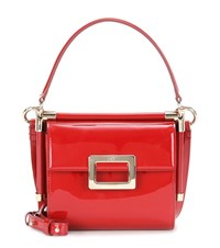 Roger Vivier Miss Viv' Carre Patent Leather Shoulder Bag Red
