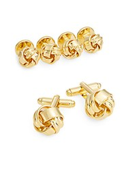 Saks Fifth Avenue Classic Knot Cuff Link And Stud Set No Color