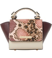 Dune Sandrine Faux Leather Micro Bag Berry