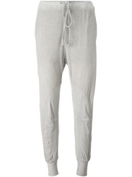 Lost And Found Drawstring Track Pants Grey