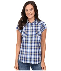 Roper 0401 May Day Plaid Blue Women's Clothing