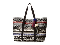 Sam Edelman Tara Tribal E W Tote Black White Tote Handbags