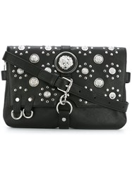 Versus Studded Flap Crossbody Bag Black