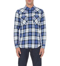 Levi's Barstow Western Checked Cotton Shirt Code Blue Plaid
