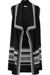 Vince Draped Knitted Cotton Vest Midnight Blue