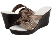 Onex Felicity Pewter Leather Women's Wedge Shoes