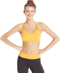 Betsey Johnson Seamless Low Impact Racerback Sports Bra Sunkissed