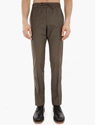 Valentino Charcoal Lightweight Wool Blend Trousers