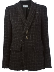 Sonia Rykiel Safety Pin Detail Tweed Blazer Grey