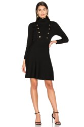 525 America Double Breast Mini Dress Black
