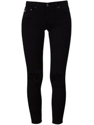 Ag Jeans Distressed Skinny Black