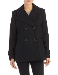 Kenneth Cole Reaction Double Breasted Peacoat Black