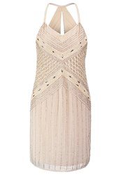 Lace And Beads Kandi Cocktail Dress Party Dress Nude