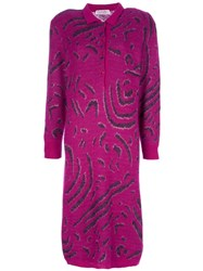 Christian Dior Vintage Pattern Dress Pink And Purple