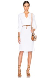 James Perse Limited Oversized Tuxedo Shirt Dress In White