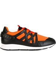 Philipp Plein 'Neon Fence' Sneakers Yellow And Orange