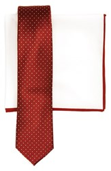 The Tie Bar Men's Dot Silk Skinny And Cotton Pocket Square Style Box