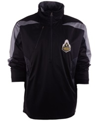 Antigua Men's Purdue Boilermakers Half Zip Pullover Black Gray