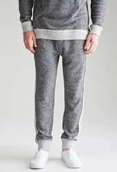 Forever 21 Reverse Paneled French Terry Sweatpants Heather Grey Navy