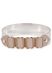 John And Pearl Gauche Leather Silver Plated Bracelet