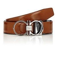 Salvatore Ferragamo Men's Reversible Leather Belt Brown Black Tan Brown Black Tan