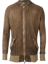 Giorgio Brato Leather Jacket Brown