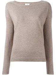Closed Crew Neck Jumper Nude Neutrals