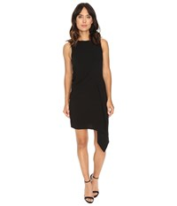 Adelyn Rae Sheath Dress Asymmetrical Skirt Black Women's Dress