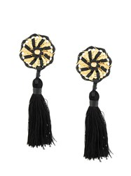 Dsquared2 Spiral Tassel Earrings Black