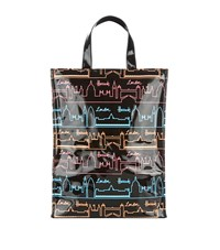 Harrods Neon City Medium Tote Bag Unisex