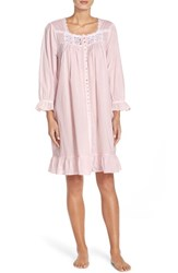 Women's Eileen West Front Button Cotton Nightgown Rose