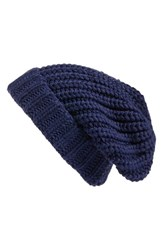 Hinge Women's Chunky Knit Beanie Blue Navy Patriot