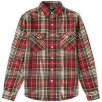 Rrl Sweet Orr Plaid Shirt Red