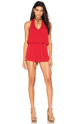 Bishop Young Halter Romper Red