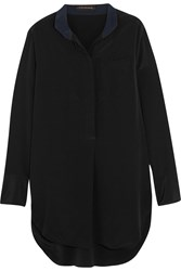 By Malene Birger Kathleen Silk Crepe De Chine Blouse Black