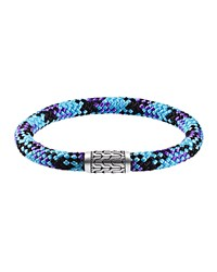 Men's Classic Chain Thin Multicolor Cord Bracelet Turquoise John Hardy
