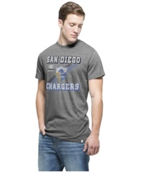 '47 Brand Men's San Diego Chargers Retro Tri State T Shirt Gray