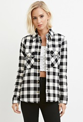 Forever 21 Faux Shearling Plaid Jacket