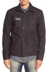 Men's Tavik 'Sutter' Water Resistant Coated Canvas Jacket Jet Black