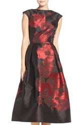 Rickie Freeman For Teri Jon Women's Floral Jacquard Midi Dress