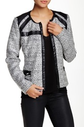 Kut From The Kloth Brandon Boucle Faux Leather Trim Jacket Black