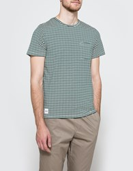 Native Youth Drop Stitch Stripe T Shirt Green