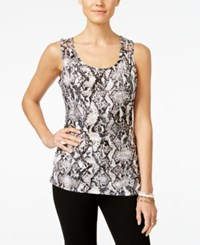 Inc International Concepts Printed Tank Top Only At Macy's Diamond Back Snake