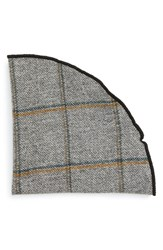Alexander Olch Men's 'Cordial' Windowpane Wool Pocket Round Light Grey