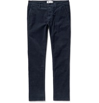 Nn.07 Marco Slim Fit Stretch Cotton Corduroy Trousers Blue