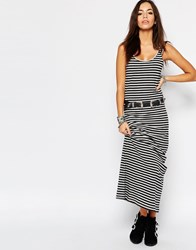 Only Abbie Striped Jersey Tank Maxi Dress Multi