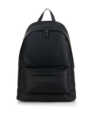 Balenciaga Perforated Logo Leather Backpack
