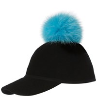 Charlotte Simone Women's Sass Cap Single Pom Blue One Size